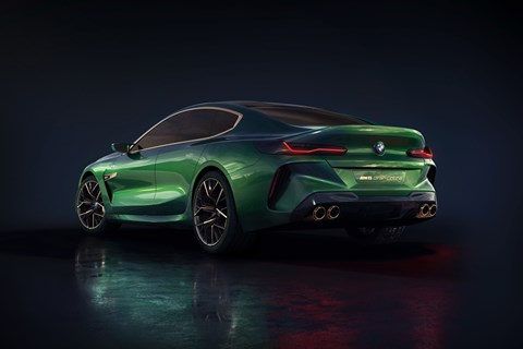 BMW concept M8 Gran Coupe rear three quarter