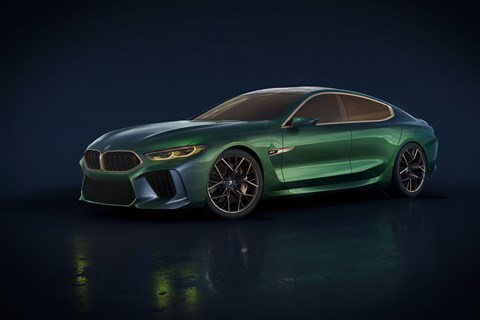 BMW concept M8 Gran Coupe side profile