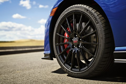 Lightweight 18-inch wheels the largest yet to be fitted to an OEM-spec BRZ
