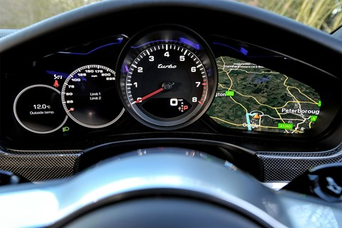 Virtual digital dials let you configure your Porsche Panamera instruments any which way