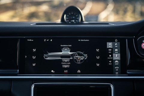 Porsche Panamera climate control run by digital screen too
