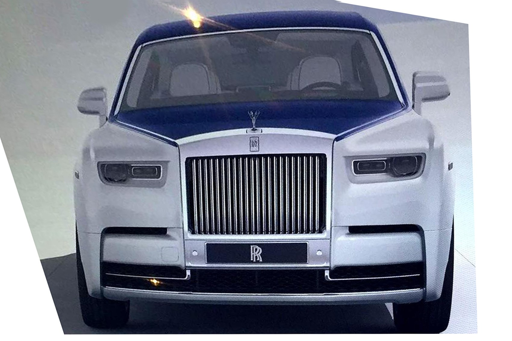 2018 rolls royce phantom. simple phantom this teaser image issued by rollsroyce clearly shows the phantomu0027s  typically bluff front surfaces throughout 2018 rolls royce phantom