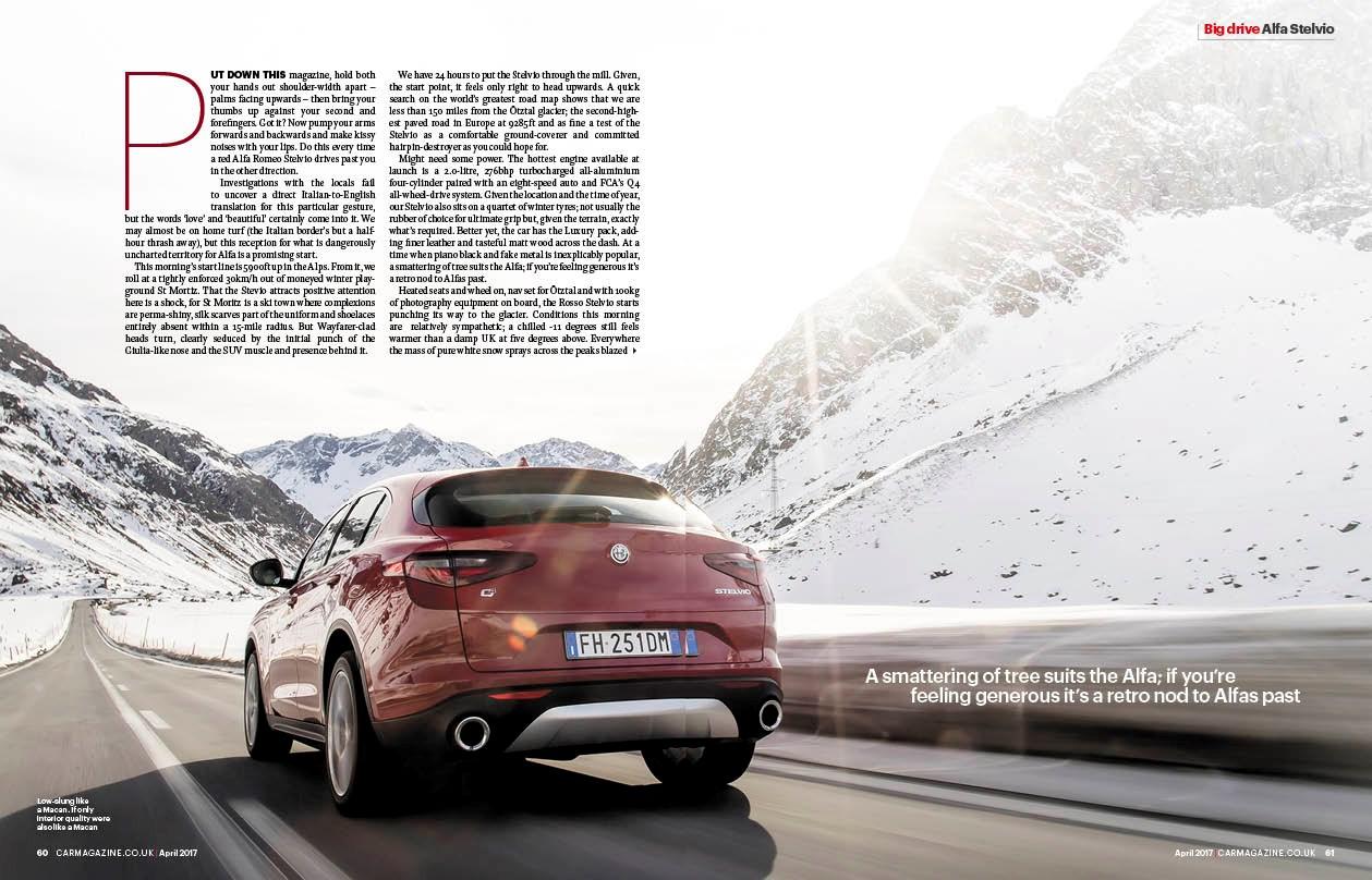 Alfa Romeo Stelvio CAR Magazine feature page