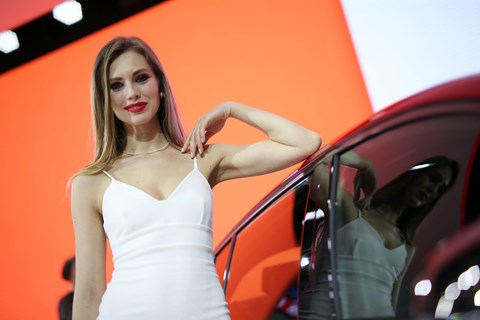 Geneva motor show 2017: female models are used on most stands