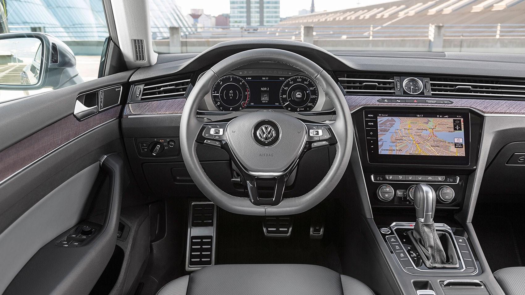 Volkswagen passat review 2017 autocar -  Vw Arteon Interior A Typically Classy Cabin