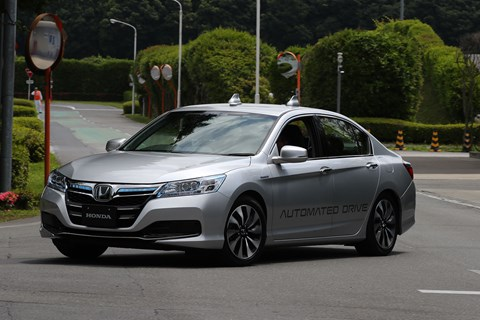 We tested a Honda Legend fitted with Automated Drive sensors and systems