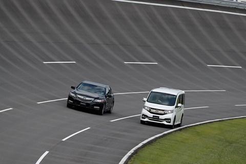 Simulated motorway driving at Honda's Tochigi test facility