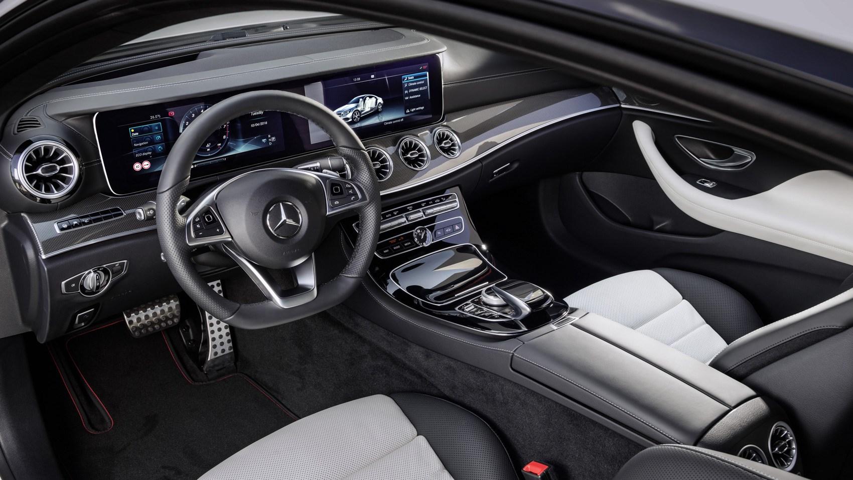 Mercedes E220d Coupe interior