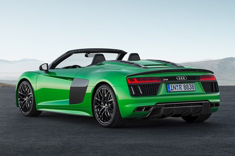 Audi R8 Spyder V10 Plus rear quarter