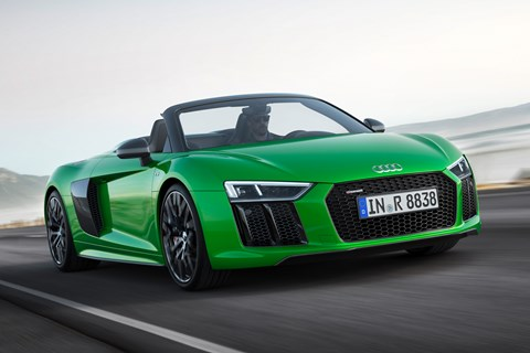 Audi R8 Spyder V10 Plus front tracking