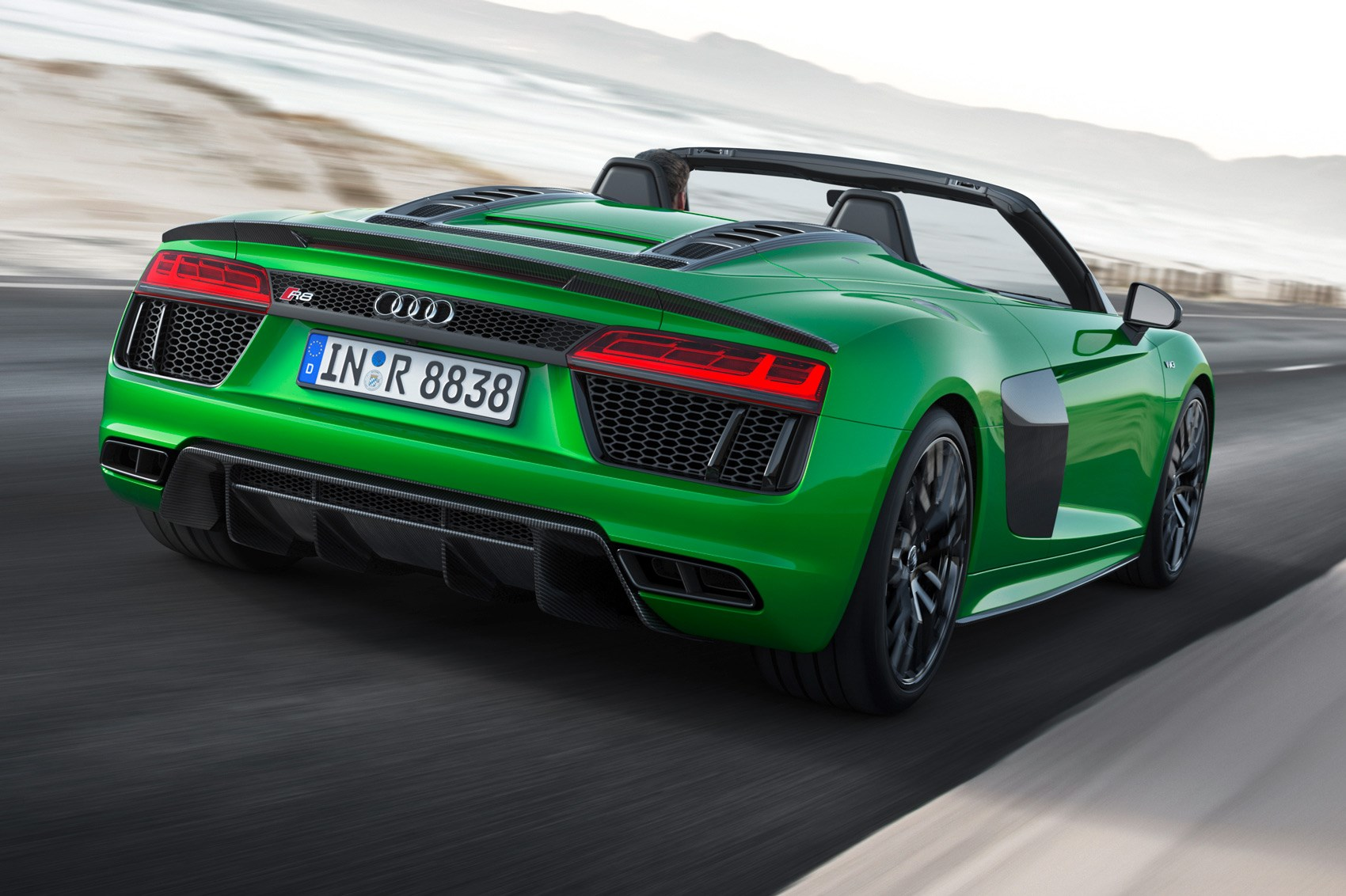 R8 V10 plus is Audi's fastest open-top ever class=