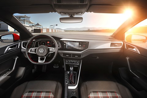 Inside new 2018 VW Polo cabin: high quality