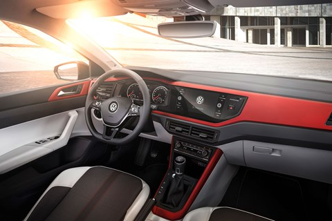 Colours galore: the cabin of new 2018 VW Polo Beats