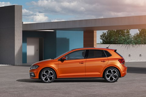 New 2018 VW Polo: side profile