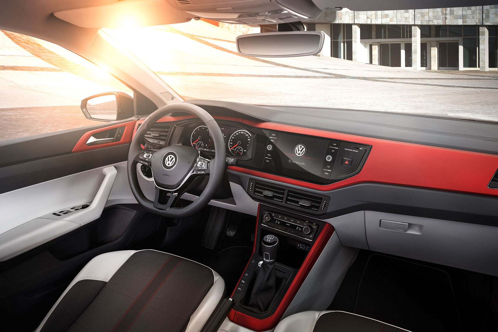 VW Polo 2018 Red & Black Interior