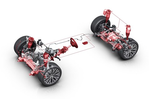 Audi A8 active suspension
