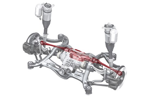 Audi A8 rear-wheel steering