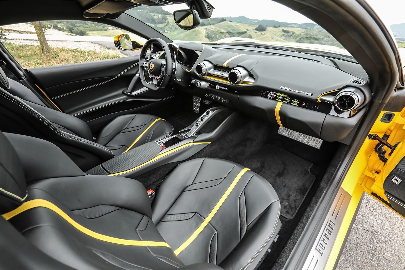 Ferrari 812 Superfast cabin