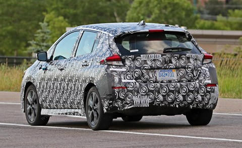 New 2018 Nissan Leaf: spy photos