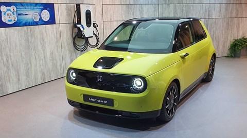 Honda e production car at the 2019 Frankfurt motor show