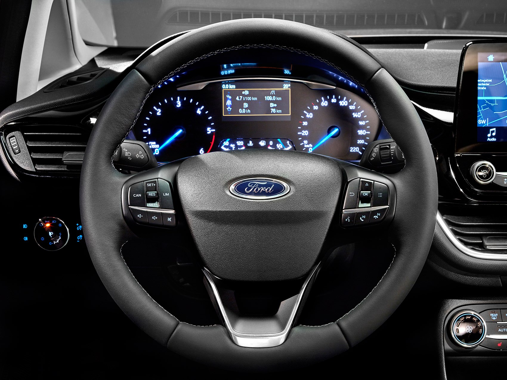 New Ford Fiesta Steering Wheel And Instruments