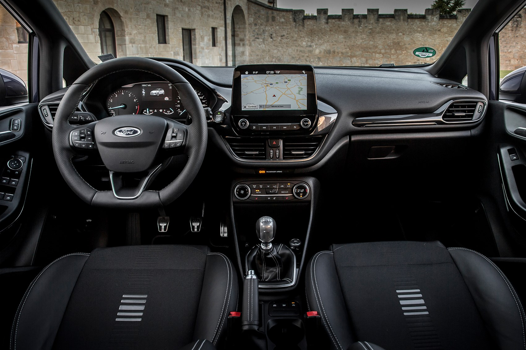 Ford Fiesta interior: much higher quality, note new 8in touchscreen infotainment