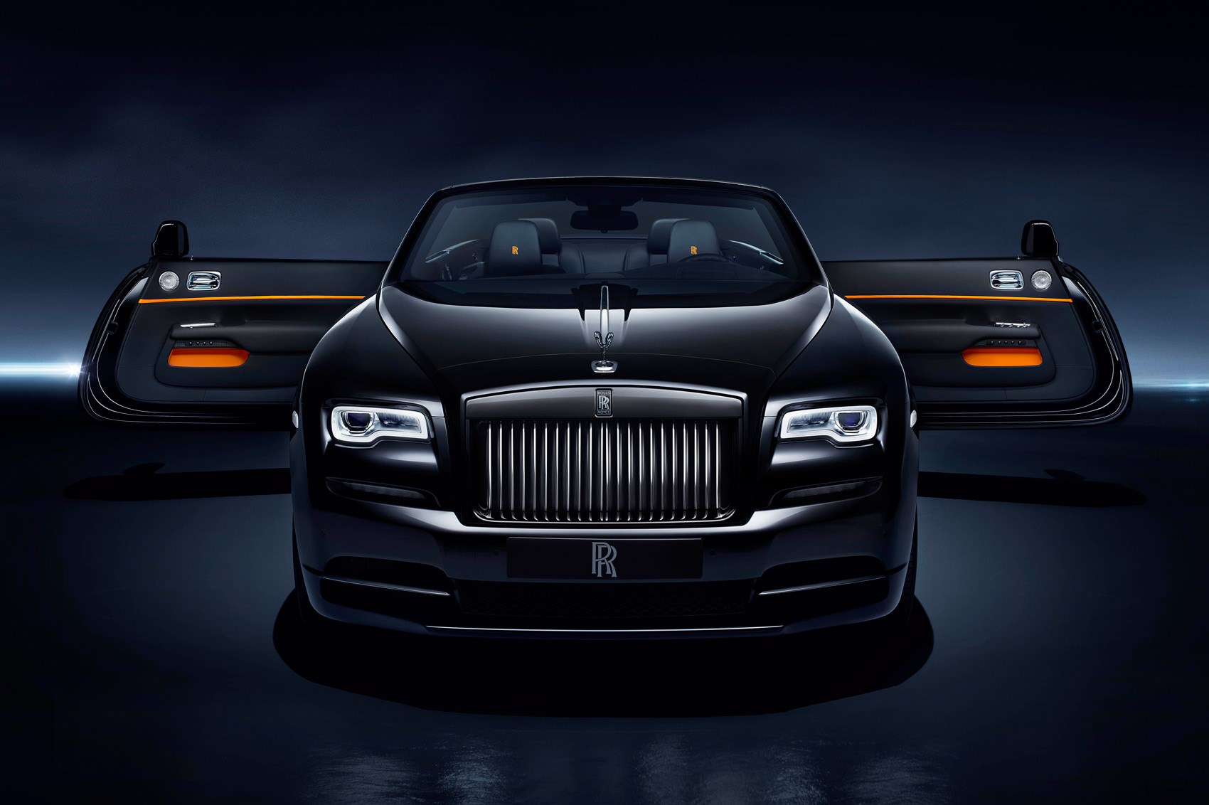 dark night rises rolls royce dawn black badge revealed at