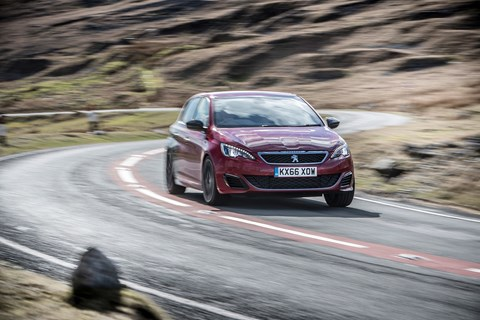 The 2017 Peugeot 308 GTI, photographed by Charlie Magee for CAR magazine