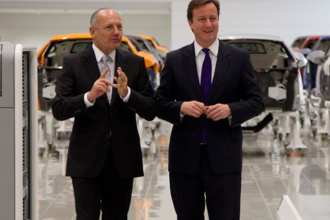 Ron Dennis (right) and another bloke who used to run things