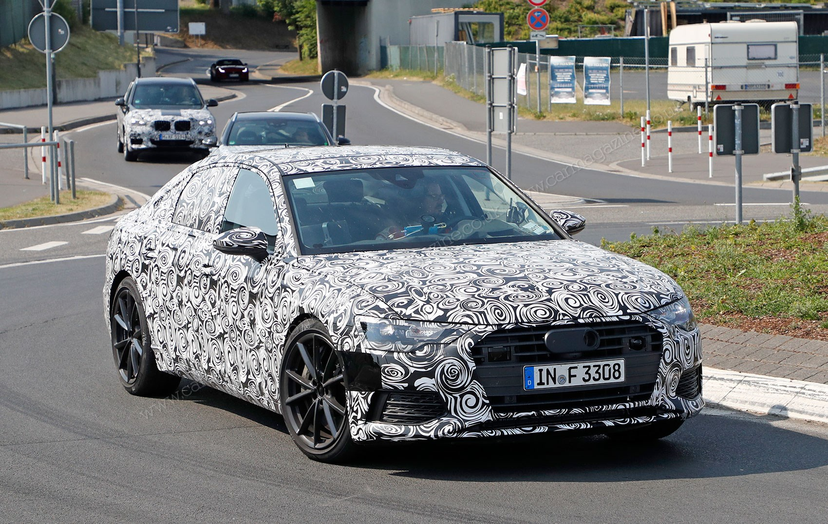 2018 audi a6 images. plain images the new 2018 audi a6 caught here testing in s6 guise  for audi a6 images 0