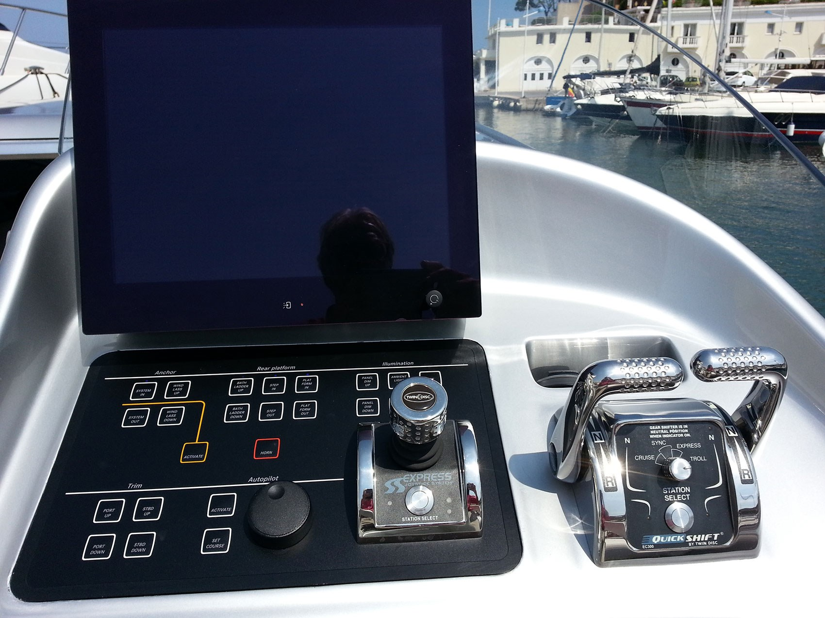 The Mercedes yacht controls