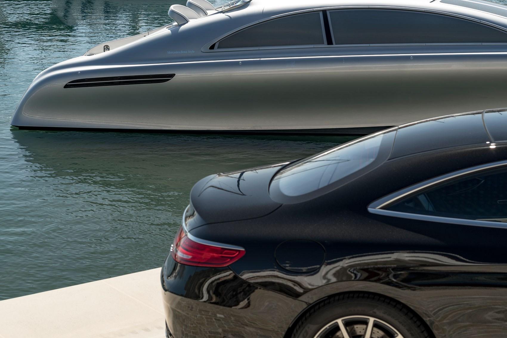 Mercedes Arrow460-Granturismo yacht and a Mercedes-AMG S63