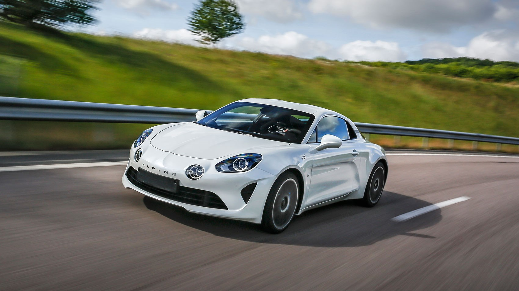 Alpine A110 sports car: mid-engined, two seater
