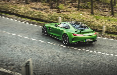 AMG GT R oversteer: it'll slide and drift all day long