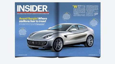 CAR magazine, July 2017: revealing the new 2021 Ferrari soft-roader