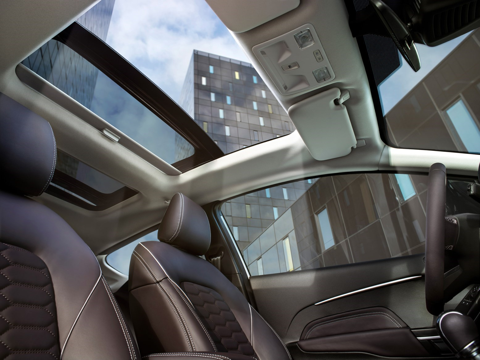 The Ford Fiesta panoramic glass sunroof: steals headroom, especially in the back