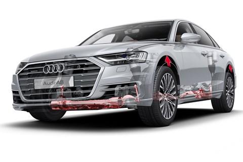 Audi A8 active suspension diagram