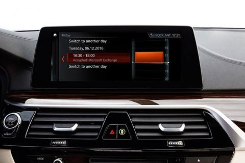 BMW Connected+ works with Microsoft Exchange to let your calendar be accessible in-car