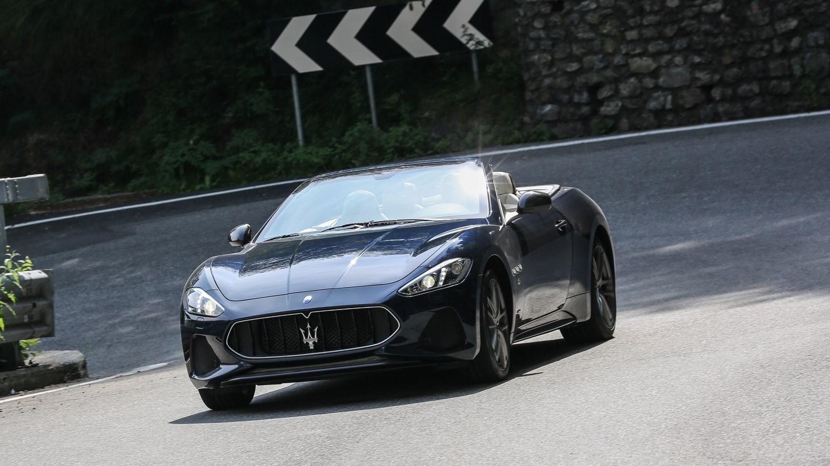 Maserati GranCabrio front cornering