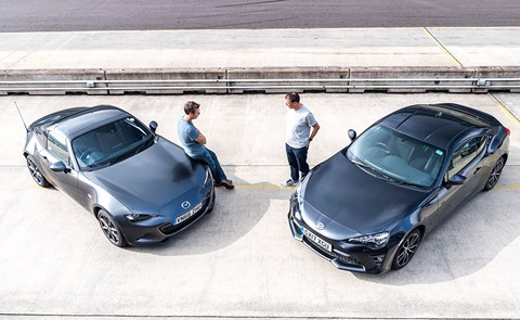 Mazda MX-5 RF vs Toyota GT86 twin test review