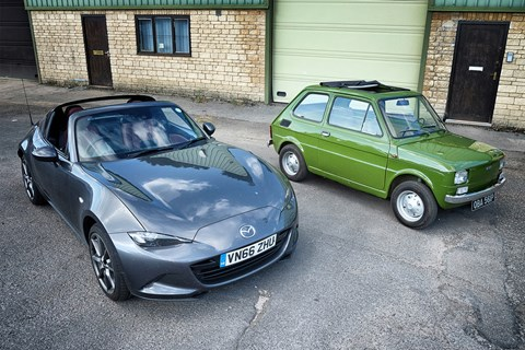 Our Mazda MX-5 RF and Mark's 1976 Fiat 126