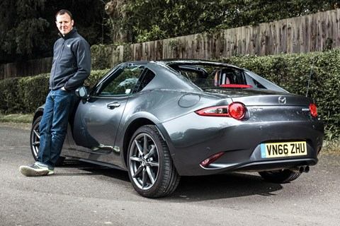 Mazda MX-5 RF long-term test review and Mark Walton
