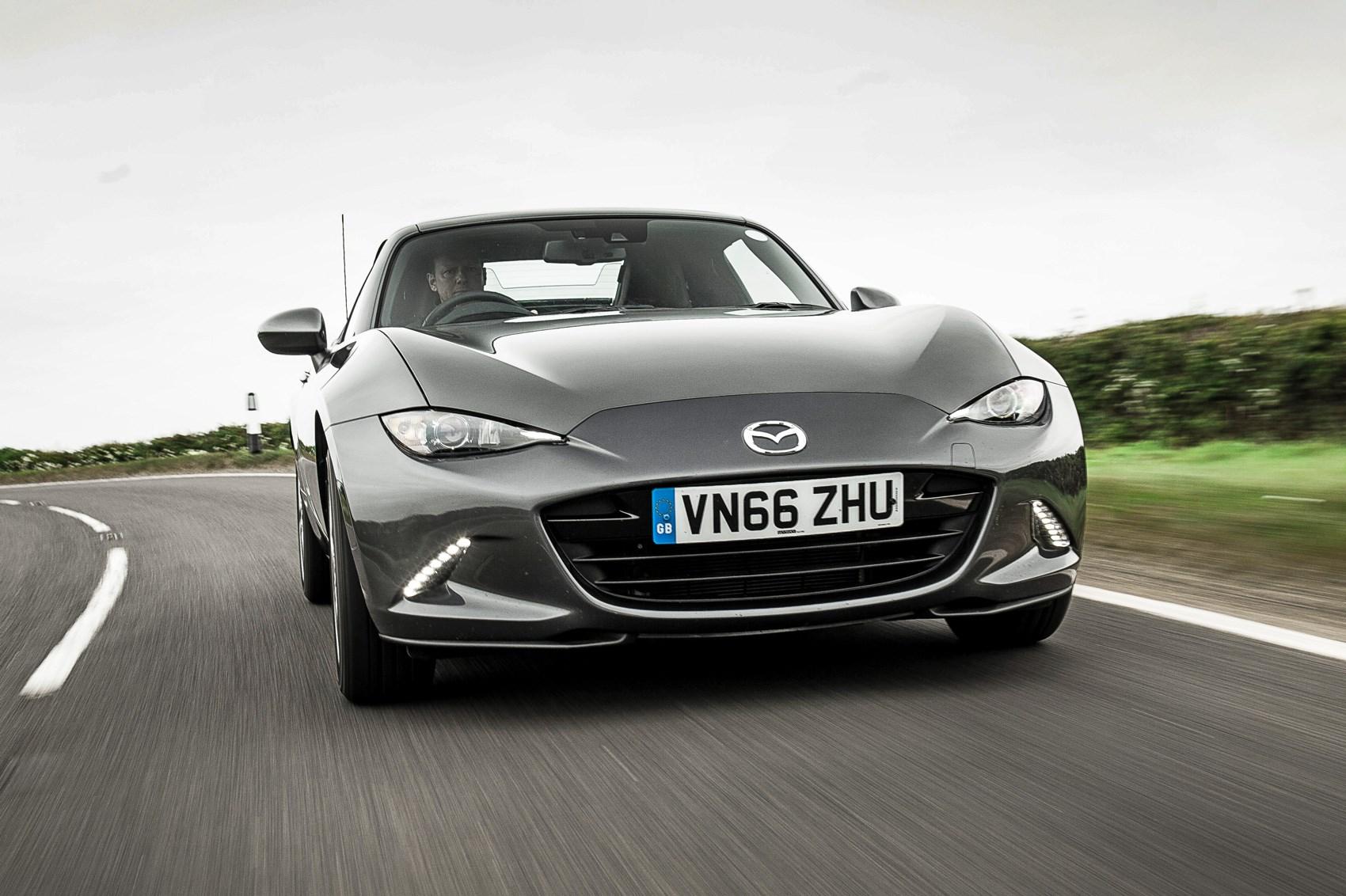 ... our Mazda MX-5 RF will drift