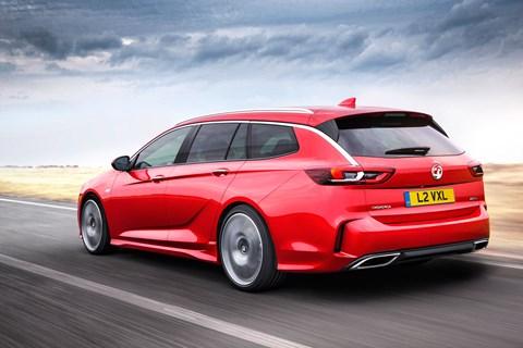 Vauxhall Insignia GSi estate rear tracking