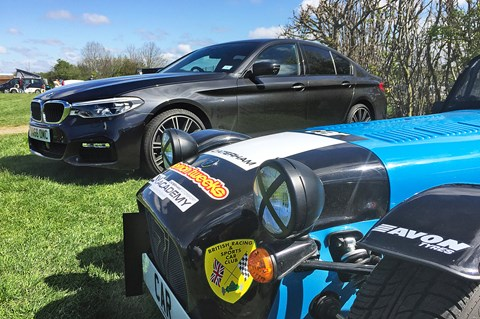 BMW 530d xDrive and Caterham Academy