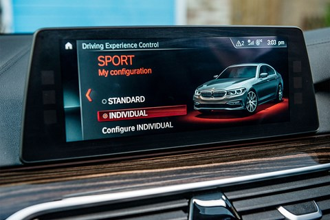 BMW 530d mode select
