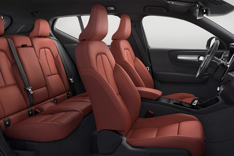 Volvo XC40's cabin finished in red leather