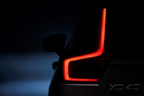 Volvo XC40's rear light cluster