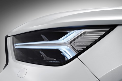 Distinctive headlights on the Volvo XC40