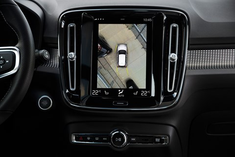 Tablet-style touchscreen in Volvo XC40's cabin